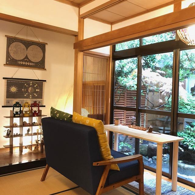 narairoカフェの和室・座敷席